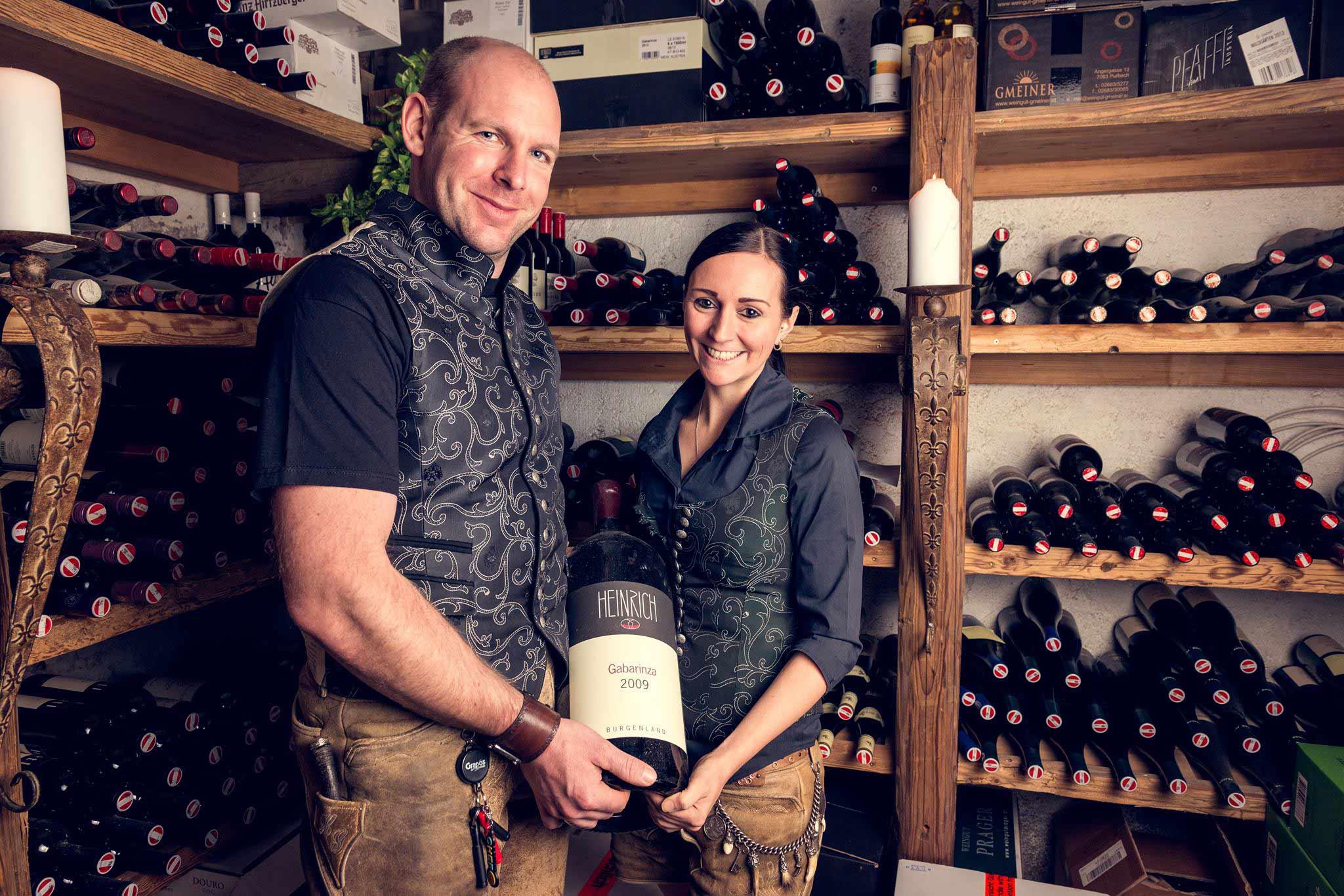 Weinspezialitäten im Restaurant Stöcklwirt